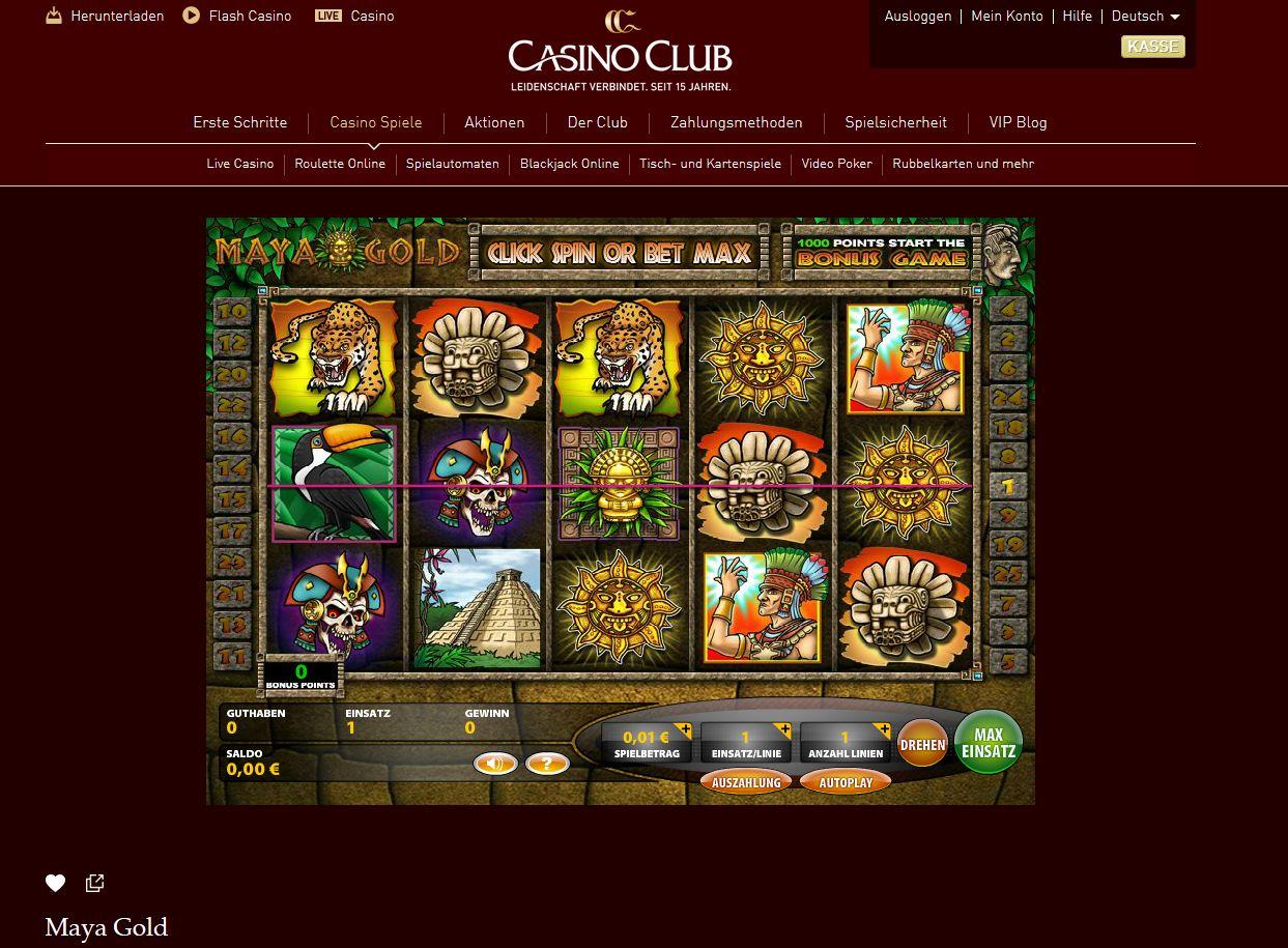 Casino Club Willkommensbonus