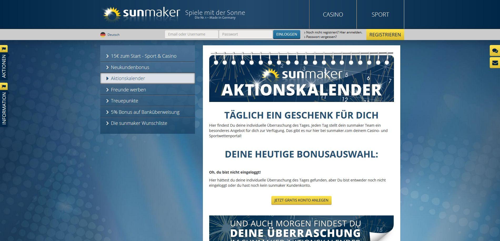 sunmaker-aktionen
