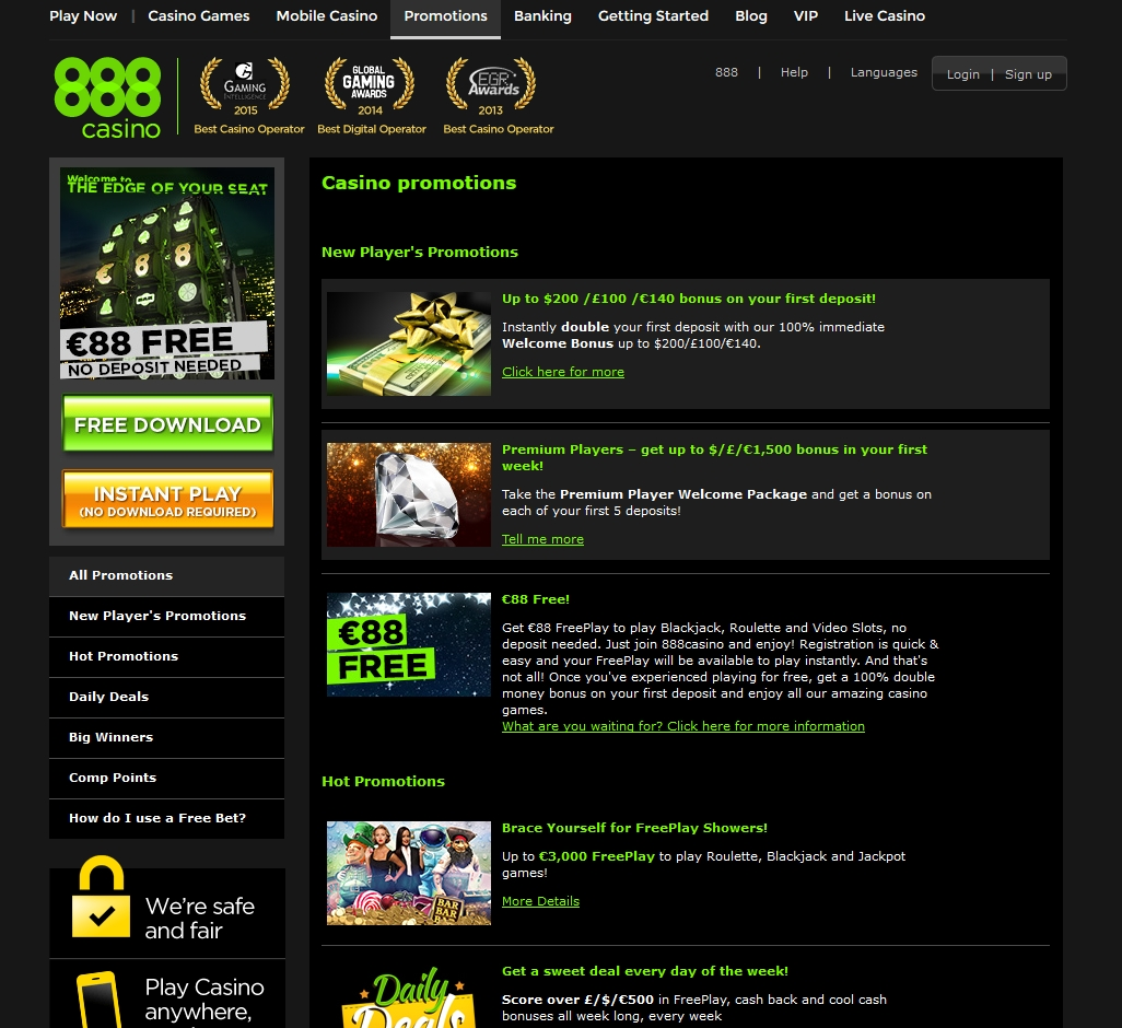 888 casino promotions