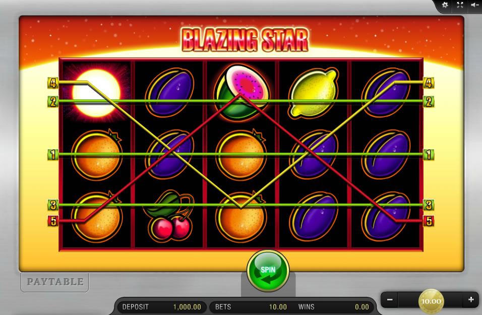 Blazing Star Slot Machine
