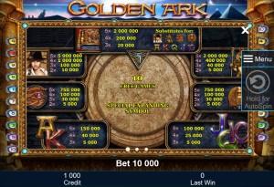 golden-ark-paytable