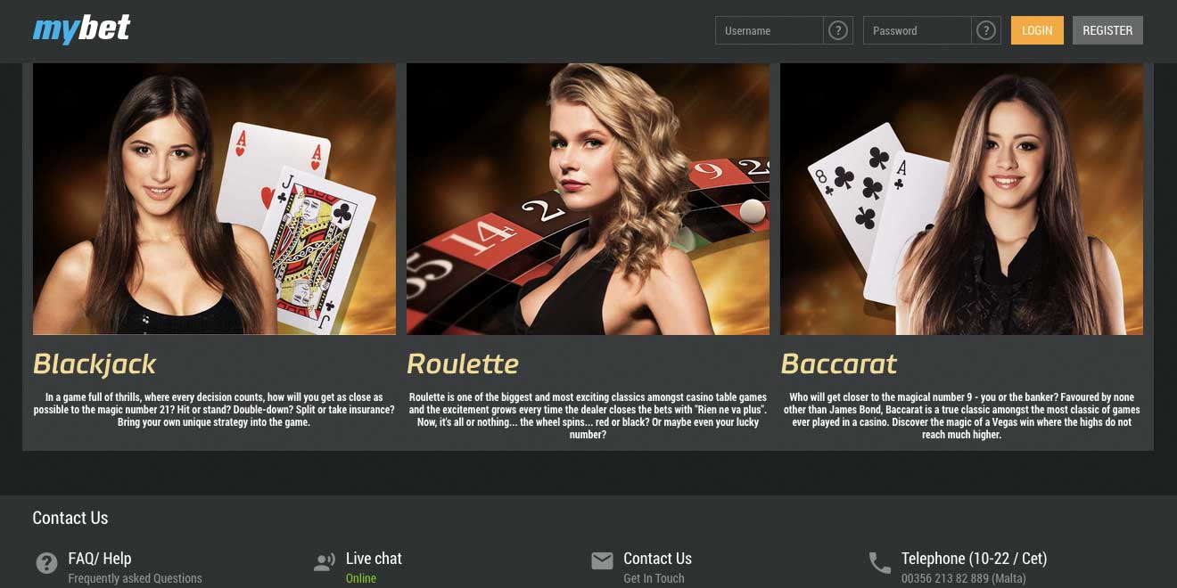 new mybet casino