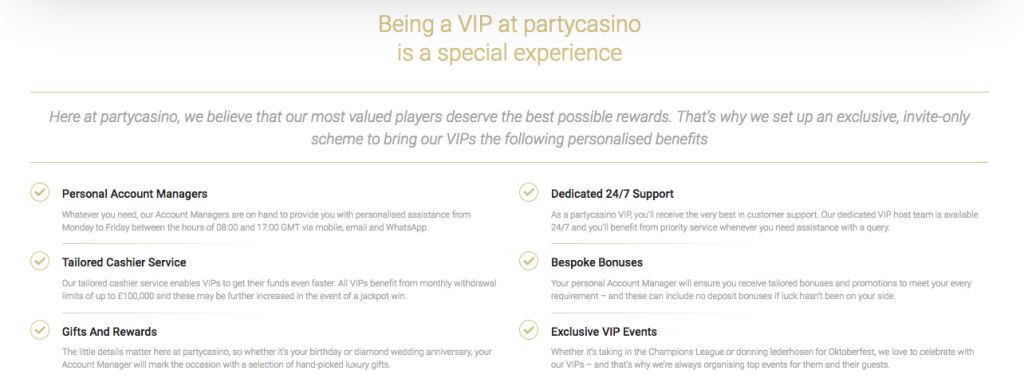 partycasinoVIP Programm