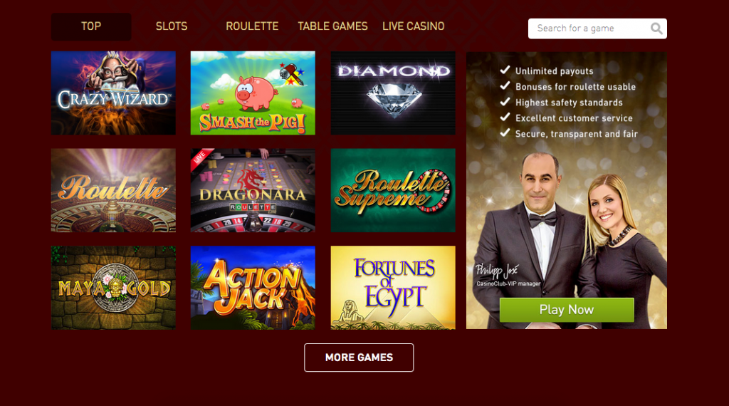 Casino Club Promotion