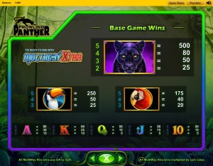 prowling-panther-paytable