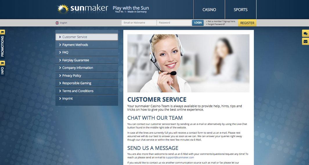 Sunmaker Support