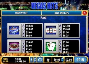 vegas-hits-paytable